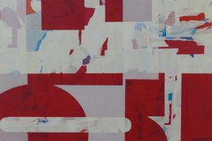 """Drei Künstlerinnen präsentieren sich in der in der Galerie LAProjects unter den Gesichtspunkten """"abstraction - reflection - transgression"""" """"Sinus 3"""", Wandas Stolle große Wandskulptur, zieht die Blicke sofort auf sich, aber erst wenn man ihre Bilder in den weiteren Räumlichkeiten der Galerie LAProject sieht, versteht man ihre Kunst als permanente Transgression zwischen Drei- und Zweidimensionalität."""