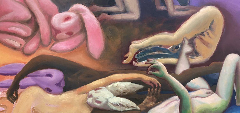 """Ausstellung """"Hasenjagd"""" in der Galerie Kunstwerk präsentiert von www.schabel-kultur-blog.de"""